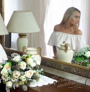 Wyjątkowa dekoracja z białych kwiatów