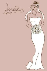 gładka suknia ślubna