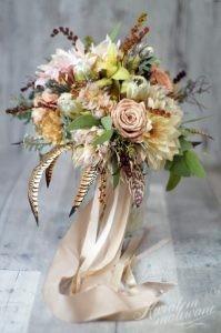 Elegancki bukiet z Kwiatem Malowane