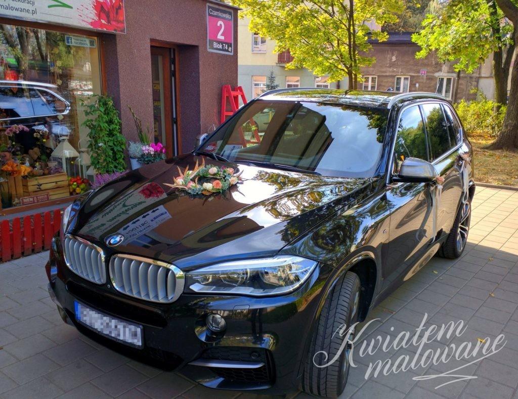 Samochód Młodej Pary przed naszą kwiaciarnią w Łodzi