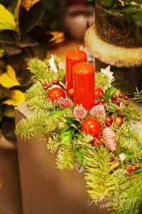 miniaturowy stroik na Boże Narodzenie