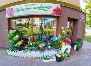 Witryna Kwiaciarnia Kwiatem Malowane Łódź