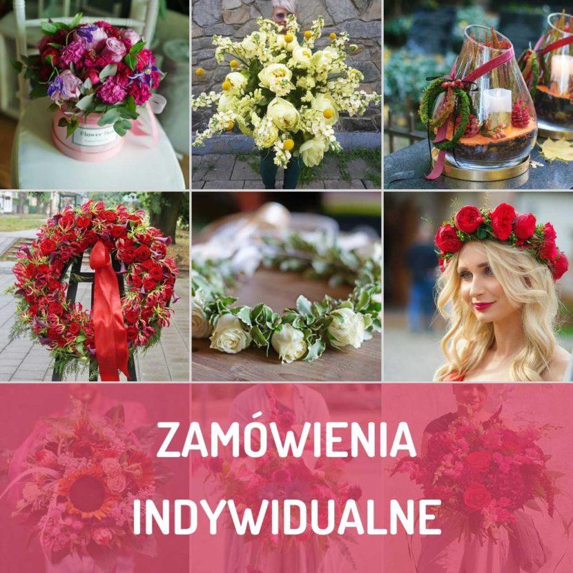 Indywidualne zmówienia florystyczne realizowane przez kwiaciarnię Kwiatem Malowane